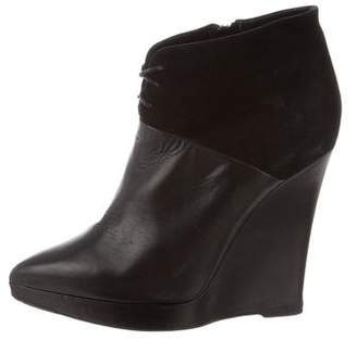 Reed Krakoff Leather Wedge Booties