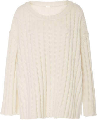 ADAM by Adam Lippes Slit Side Wool Cashmere Sweater