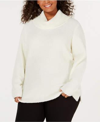 Calvin Klein Plus Size Cowl-Neck Sweater