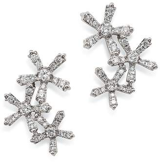 Bloomingdale's Diamond Flower Ear Climbers in 14K White Gold, 0.55 ct. t.w. - 100% Exclusive