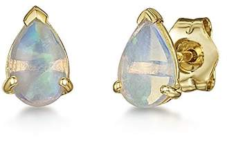 Theia 9ct Yellow Gold 'Opal' Pearshape Stud Earrings