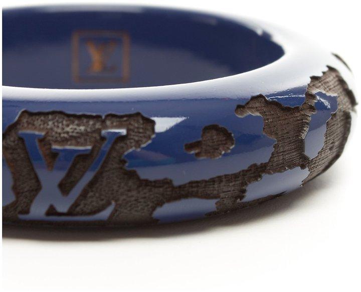 Louis Vuitton Pre-Owned: blue and black 'Leo' monogram bracelet