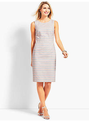 Talbots Striped Biscay Sheath Dress