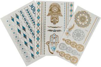 Gypsea Blue Gypsea Blue Pack Metallic Tattoos $14.95 thestylecure.com