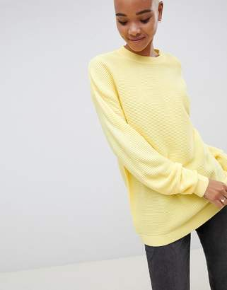 Asos Design Oversized Sweater in Ripple Stitch