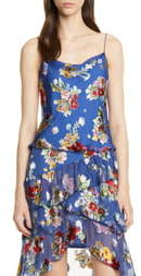 Alice + Olivia Harmon Floral Drapey Camisole