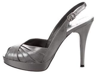Stuart Weitzman Peep-Toe Slingback Sandals