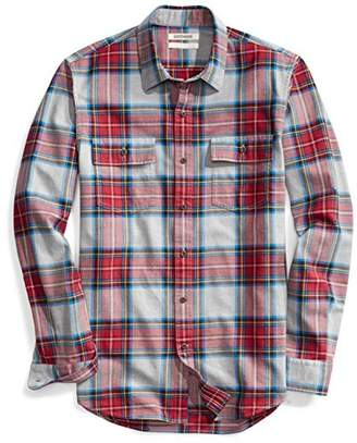 Goodthreads Men's Slim-Fit Long-Sleeve Plaid Twill Shirt