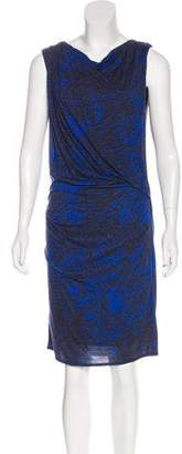 Helmut Lang Printed Midi Dress
