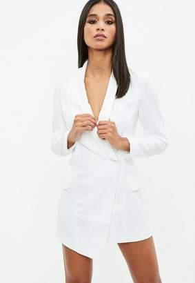 Missguided Petite White Blazer Dress
