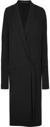 Haider Ackermann - Crepe Wrap Midi Dress - Black $1,460 thestylecure.com