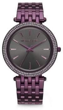 Michael Kors Darci Pave IP Stainless Steel Bracelet Watch