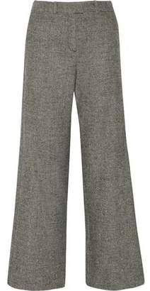 Maje Paname Wool-Blend Jacquard Wide-Leg Pants