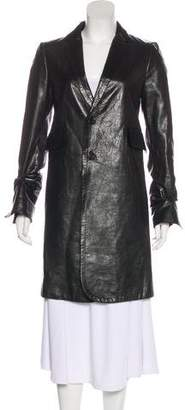 CNC Costume National Knee-Length Button-Up Coat