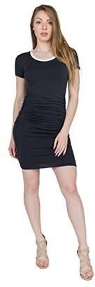 Velvet by Graham & Spencer Women's Lux Gauze Side Ruched Ringer Tee Dress