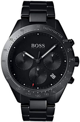 BOSS Hugo Men's Chronograph Talent Black Ceramic Bracelet Watch 42mm