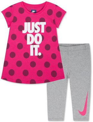 Nike 2-Pc. Tunic & Capri Leggings Set, Toddler & Little Girls (2T-6X) $42 thestylecure.com