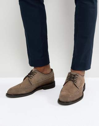Selected Suede Brogue Shoes