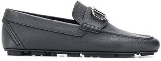 Valentino V logo driving shoes