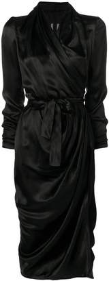 Rick Owens ruched wrap dress