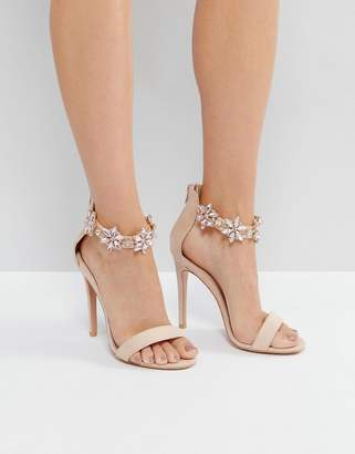 bd967488ef9 True Decadence Embellished Ankle Strap Heeled Sandals