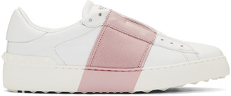 Valentino White & Pink Open Sneakers $745 thestylecure.com