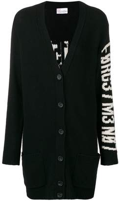 RED Valentino V-neck buttoned cardigan