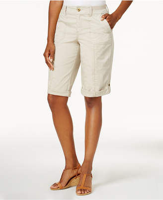 Style & Co Knit-Waistband Bermuda Shorts, Created for Macy's $46.50 thestylecure.com