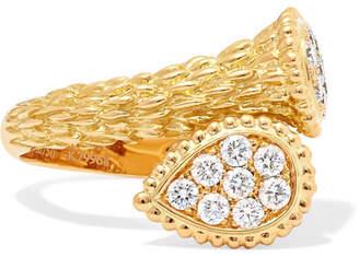 Boucheron Serpent Bohème Toi Et Moi 18-karat Gold Diamond Ring - 50