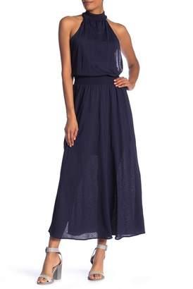 Rachel Roy Mock Neck Long Over Lean Maxi Dress