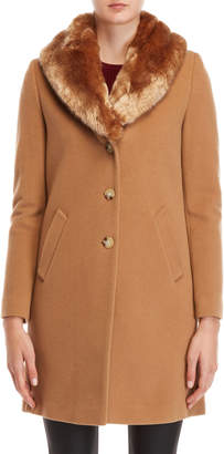Lauren Ralph Lauren Faux Fur Shawl Collar Coat