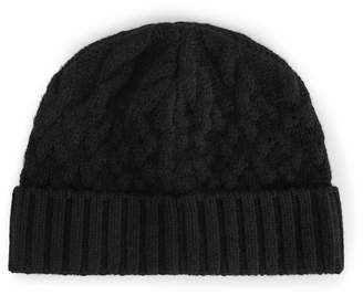 Reiss Bedford - Cable-knit Beanie Hat in Black