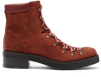 Rupert Sanderson Roanoke Suede Lace Up Boots - Womens - Brown