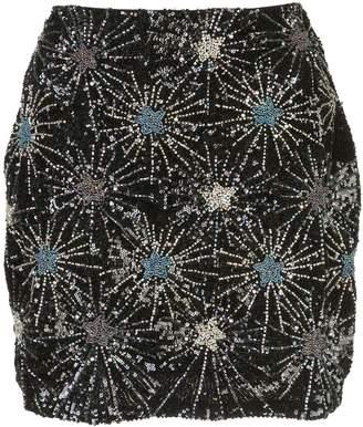 retrofete beaded-stars mini skirt