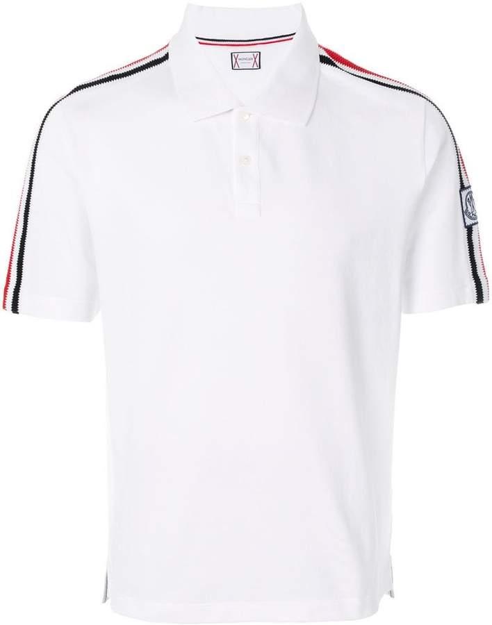 shoulder strap polo shirt