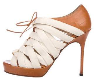 Bruno Frisoni Canvas Lace-Up Booties