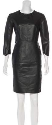 Brogden Leather Bodycon Dress w/ Tags