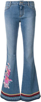 Ermanno Scervino embroidered flared jeans