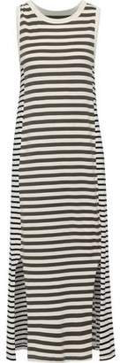 Current/Elliott The Perfect Muscle Striped Pima Cotton-jersey Midi Dress