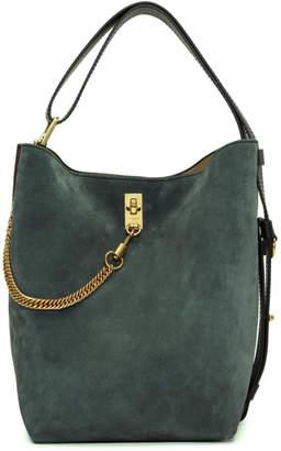 Givenchy Green and Burgundy Medium Bucket Bag
