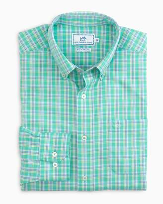 Southern Tide Watersedge Plaid Intercoastal Performance Shirt