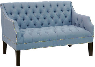 One Kings Lane Laura Tufted Settee - French Blue