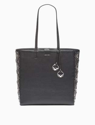 Calvin Klein floral perforated leather tote
