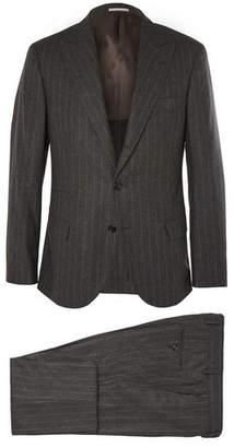 Brunello Cucinelli Grey Slim-Fit Wool, Silk and Cashmere-Blend Suit