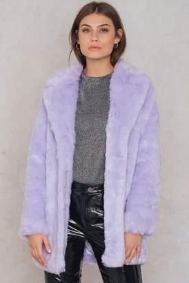NA-KD Na Kd Colored Faux Fur Coat