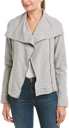 Three Dots Draped Moto Jacket