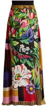 Mary Katrantzou Emily printed crepe maxi skirt