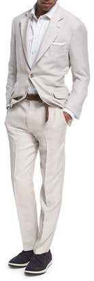 Brunello Cucinelli Wool-Silk-Linen Deconstructed Suit $3,495 thestylecure.com
