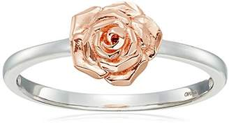 14k Rose Gold Flower Ring with White Gold Ring