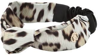 Roberto Cavalli Leo Printed Stretch Satin Headband